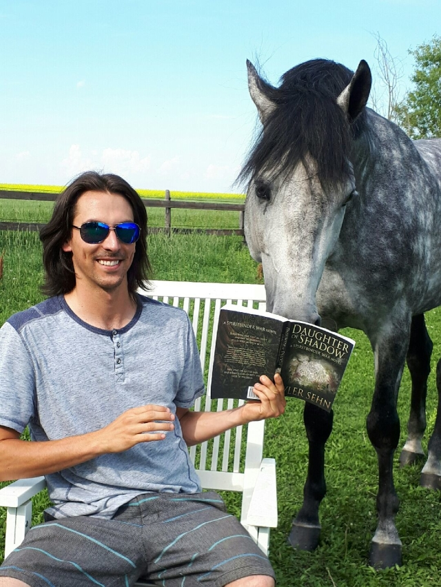 Smiling & Reading to Casparo